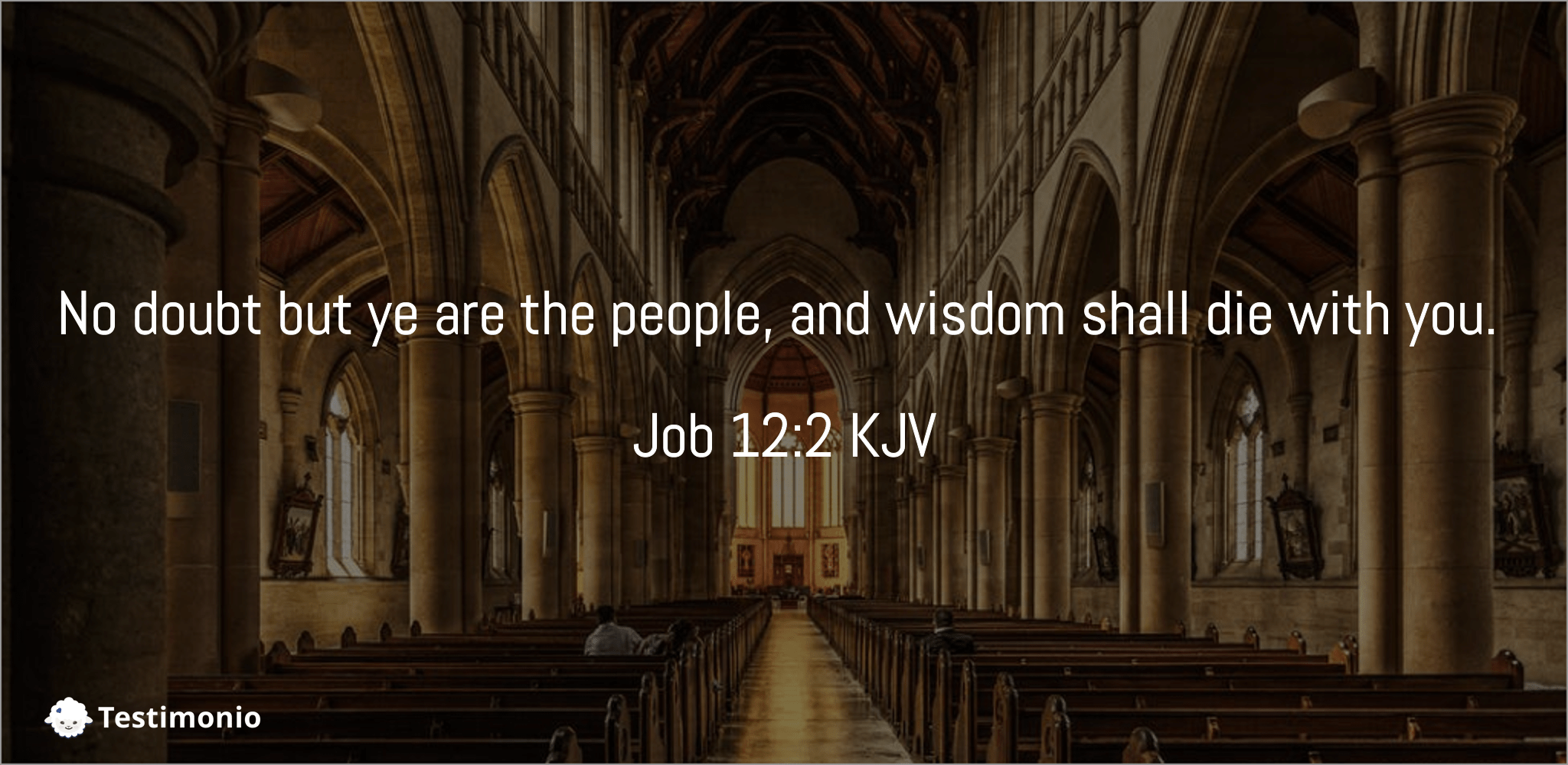 Job 12:2