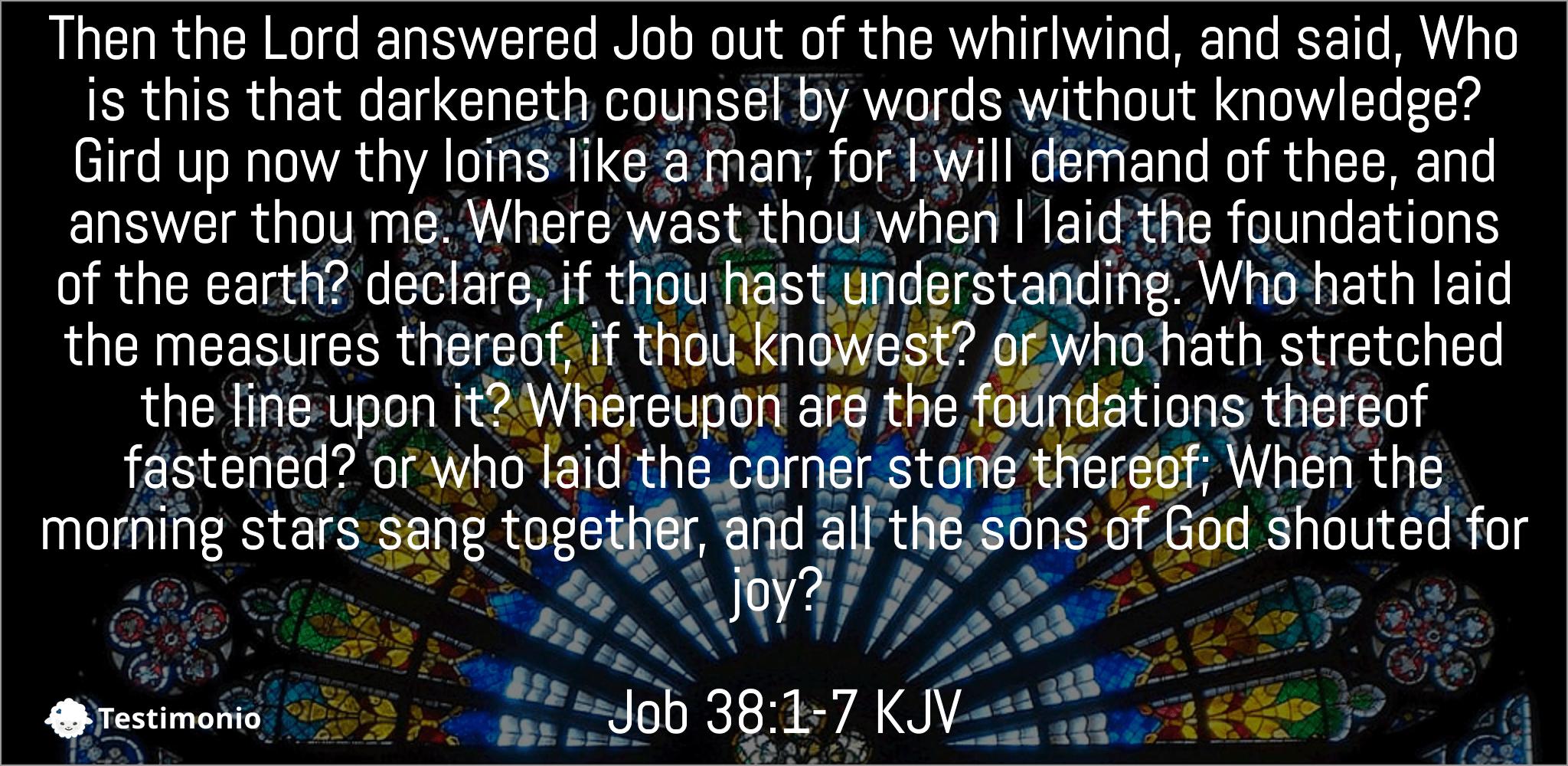 Job 38:1-7