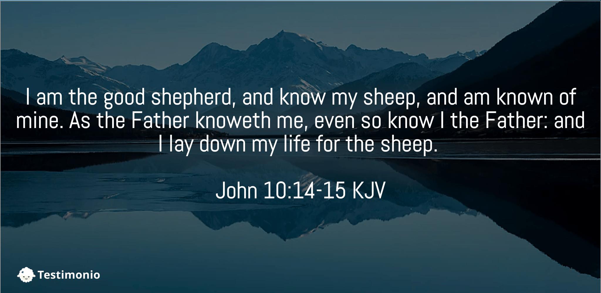 John 10:14-15