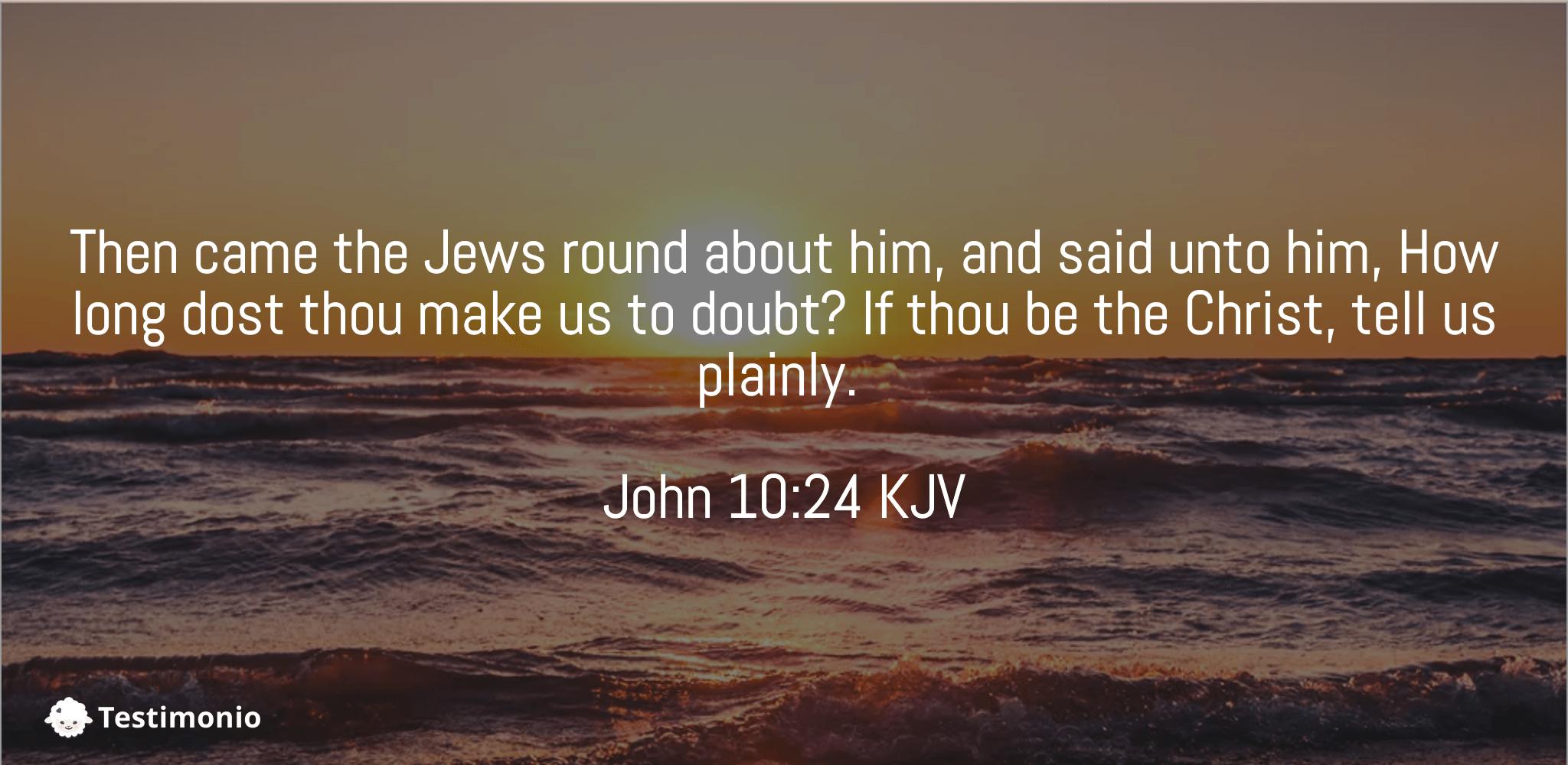 John 10:24