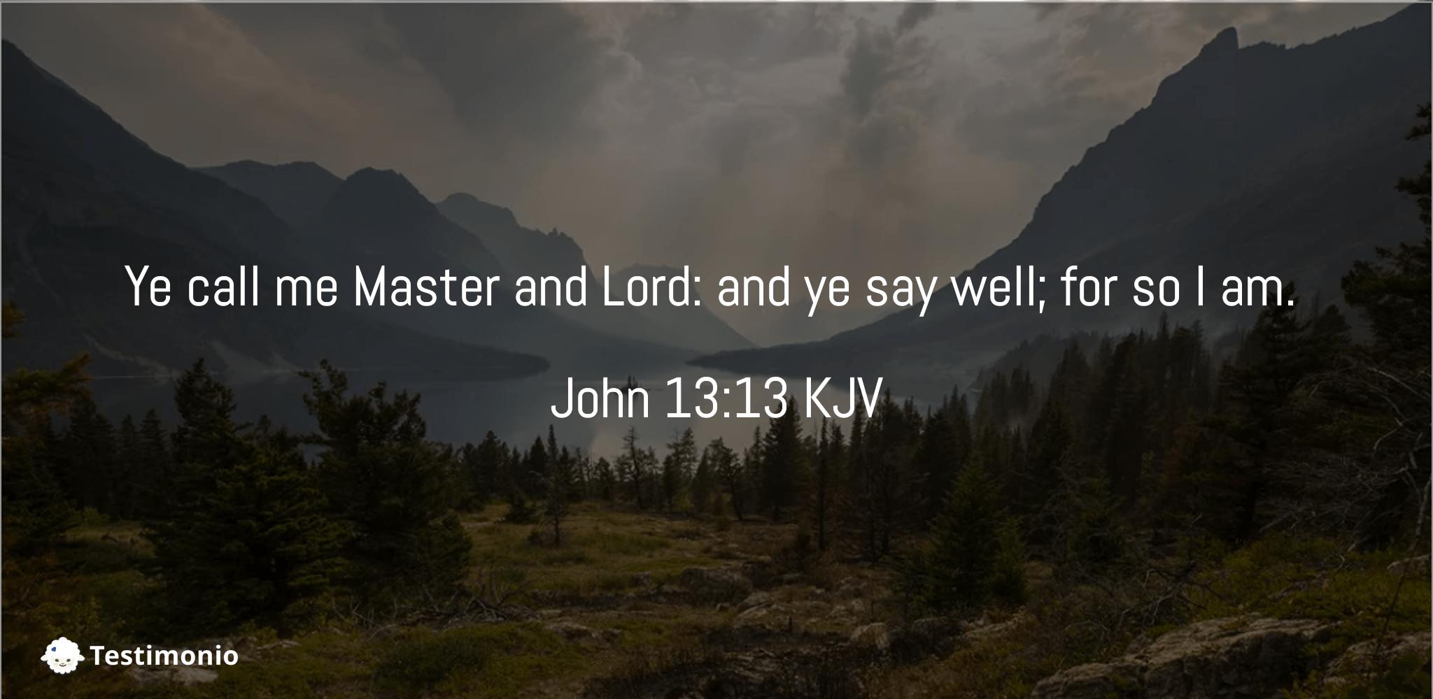 John 13:13