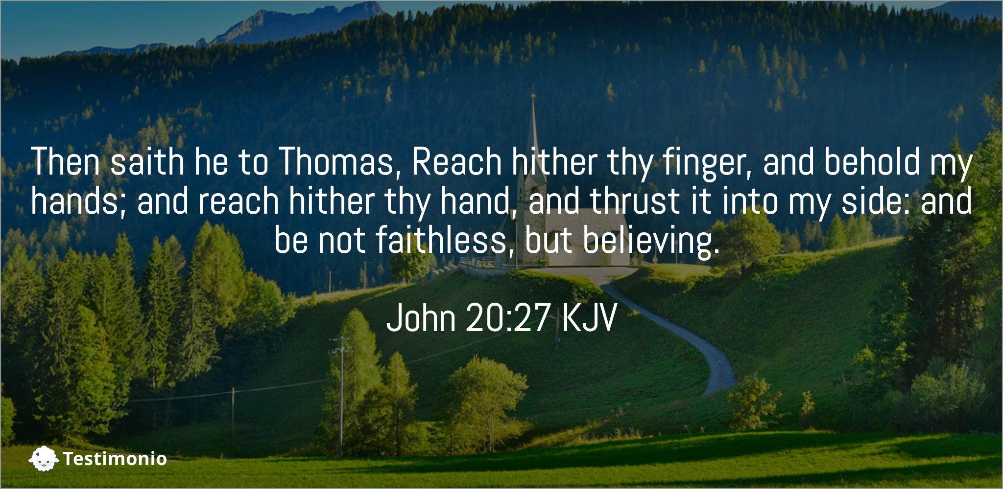 John 20:27
