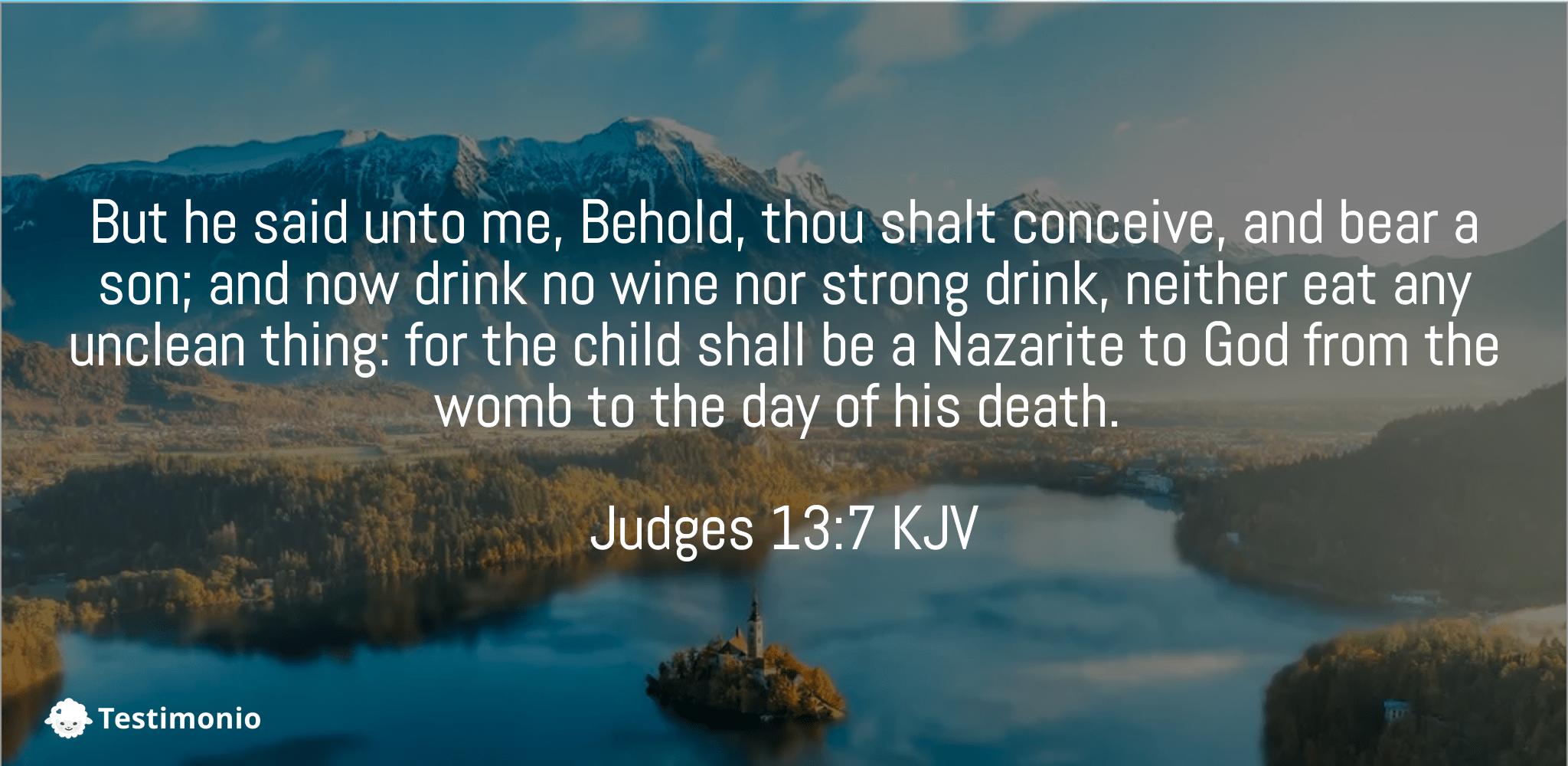 Judges 13:7