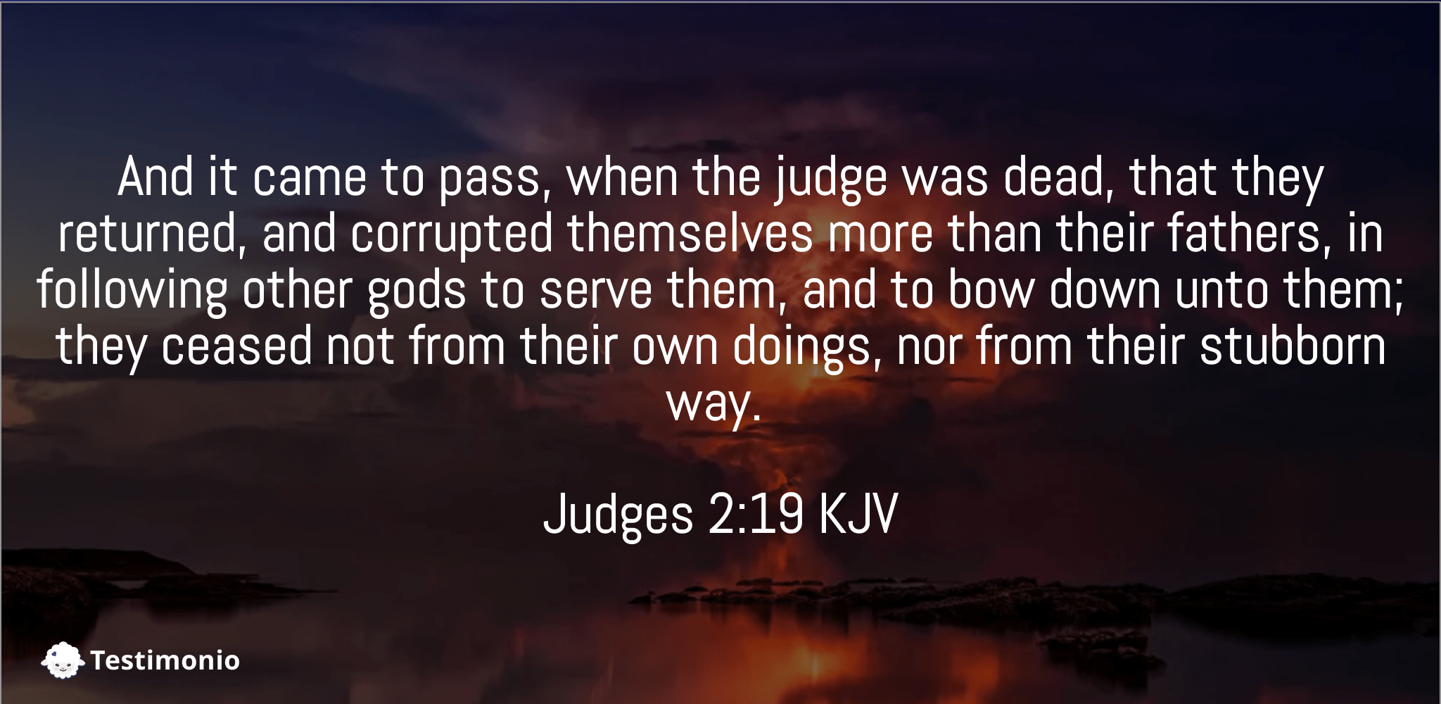 Judges 2:19