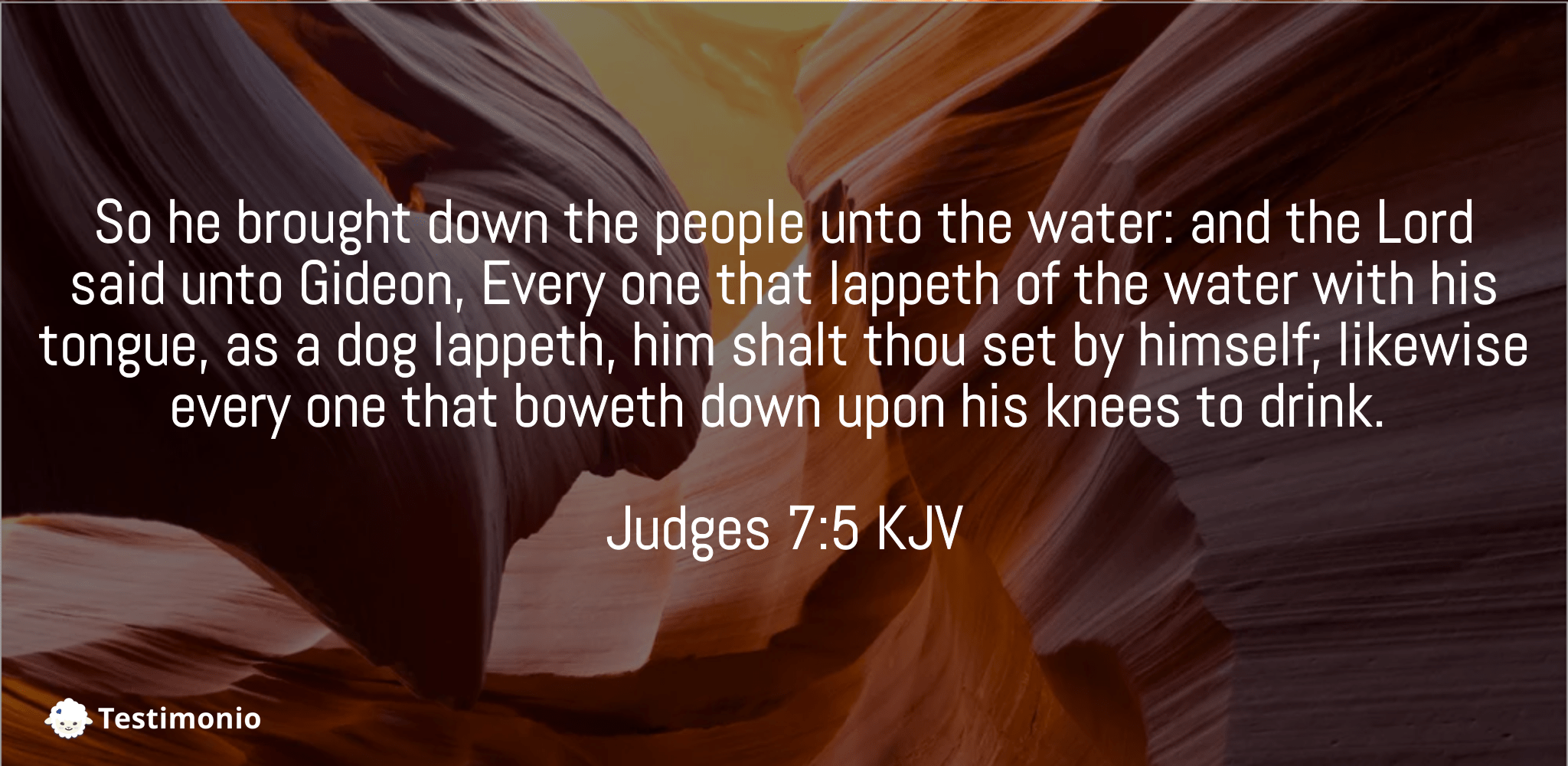 Judges 7:5