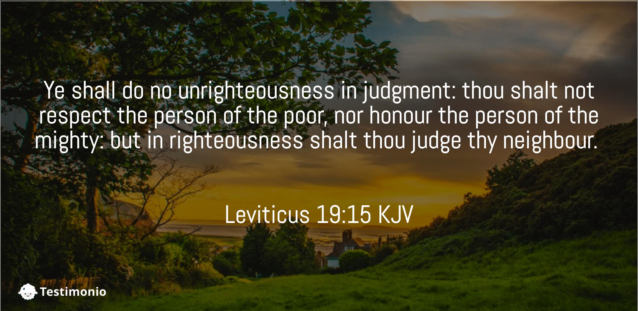Leviticus 19:15