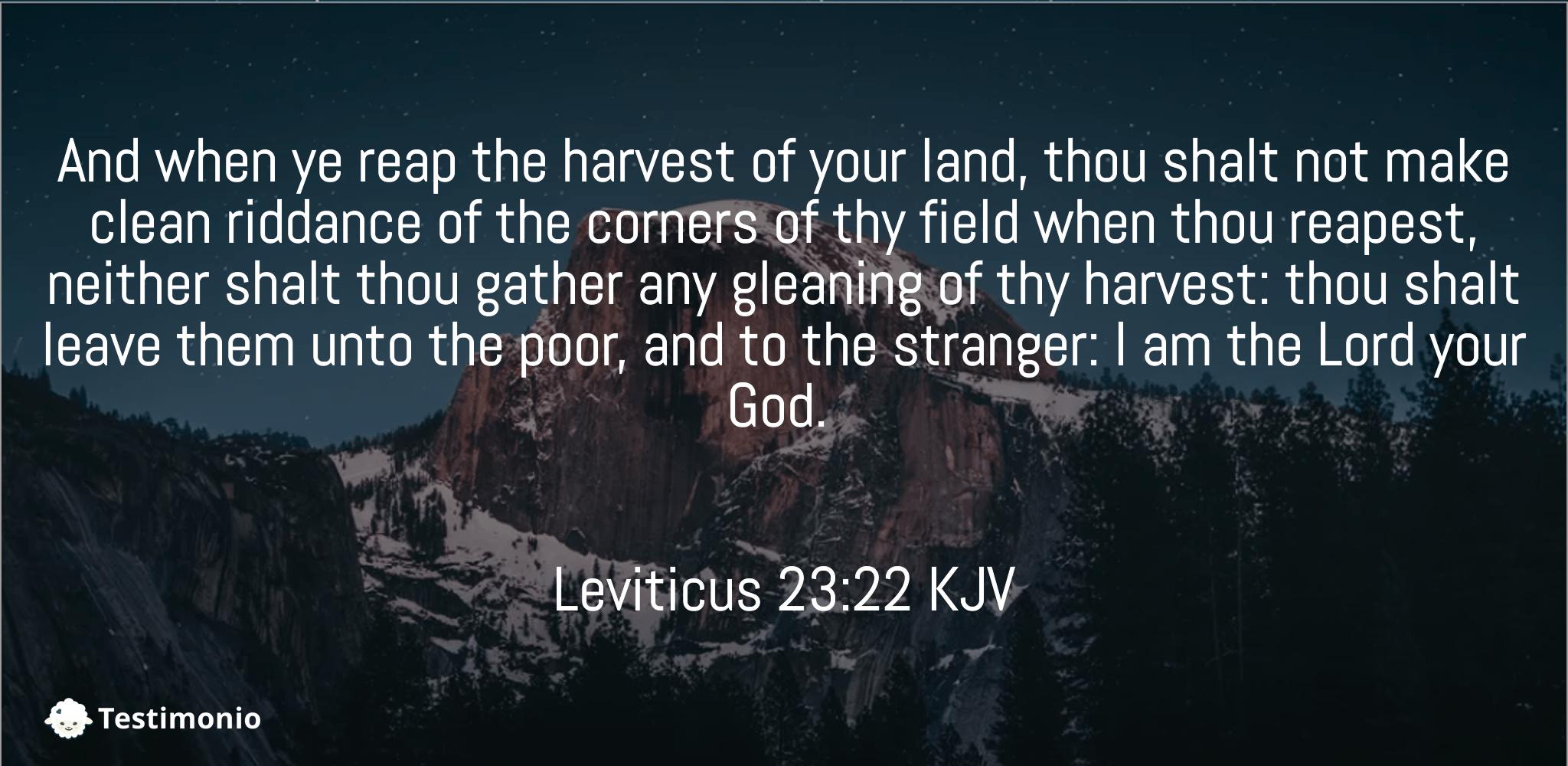 Leviticus 23:22