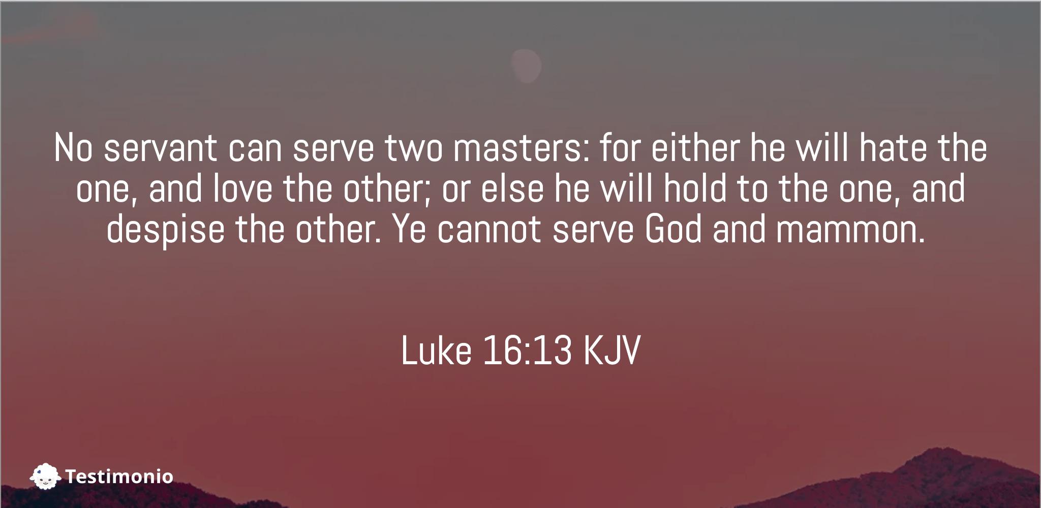 Luke 16:13
