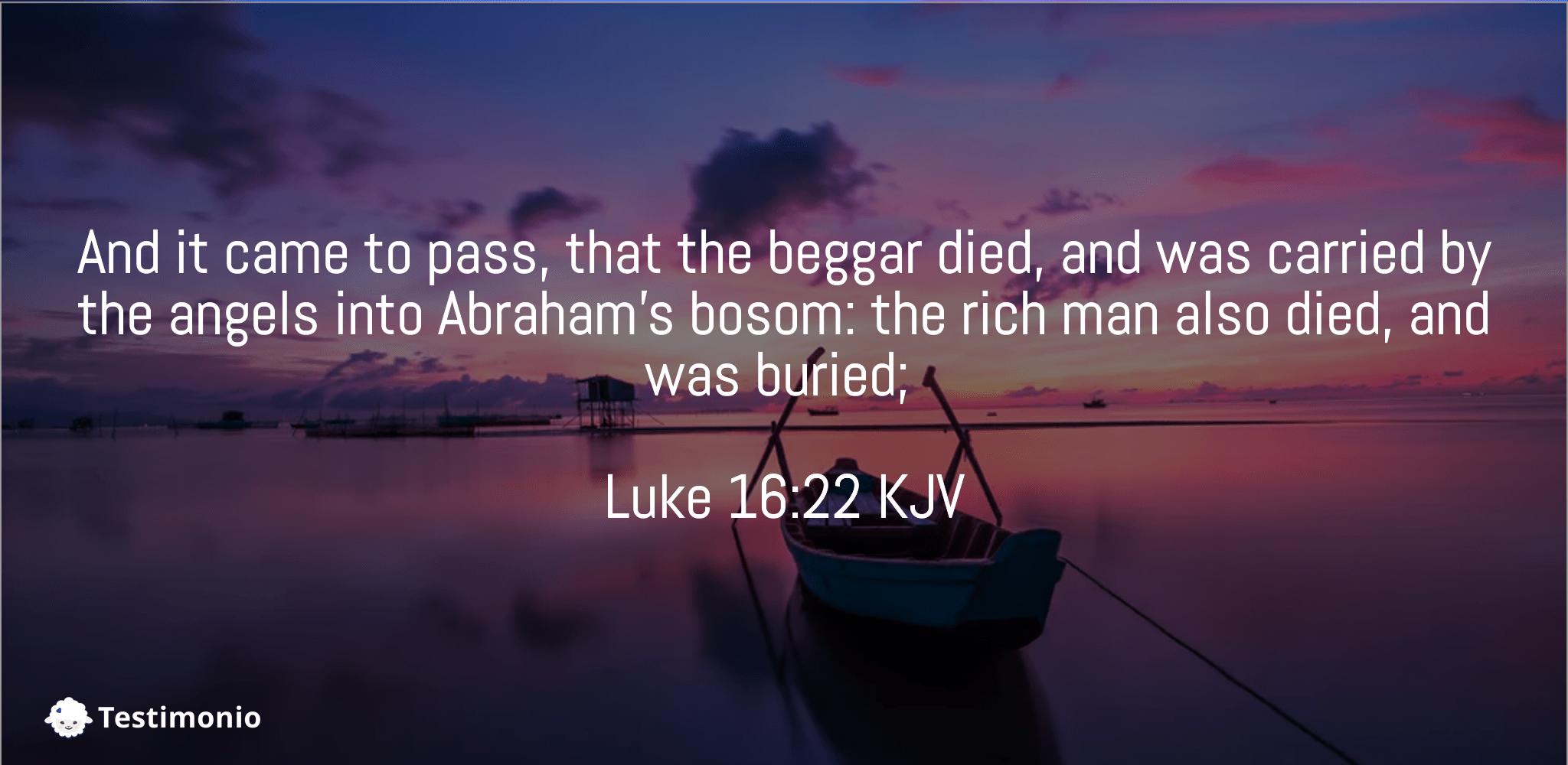 Luke 16:22