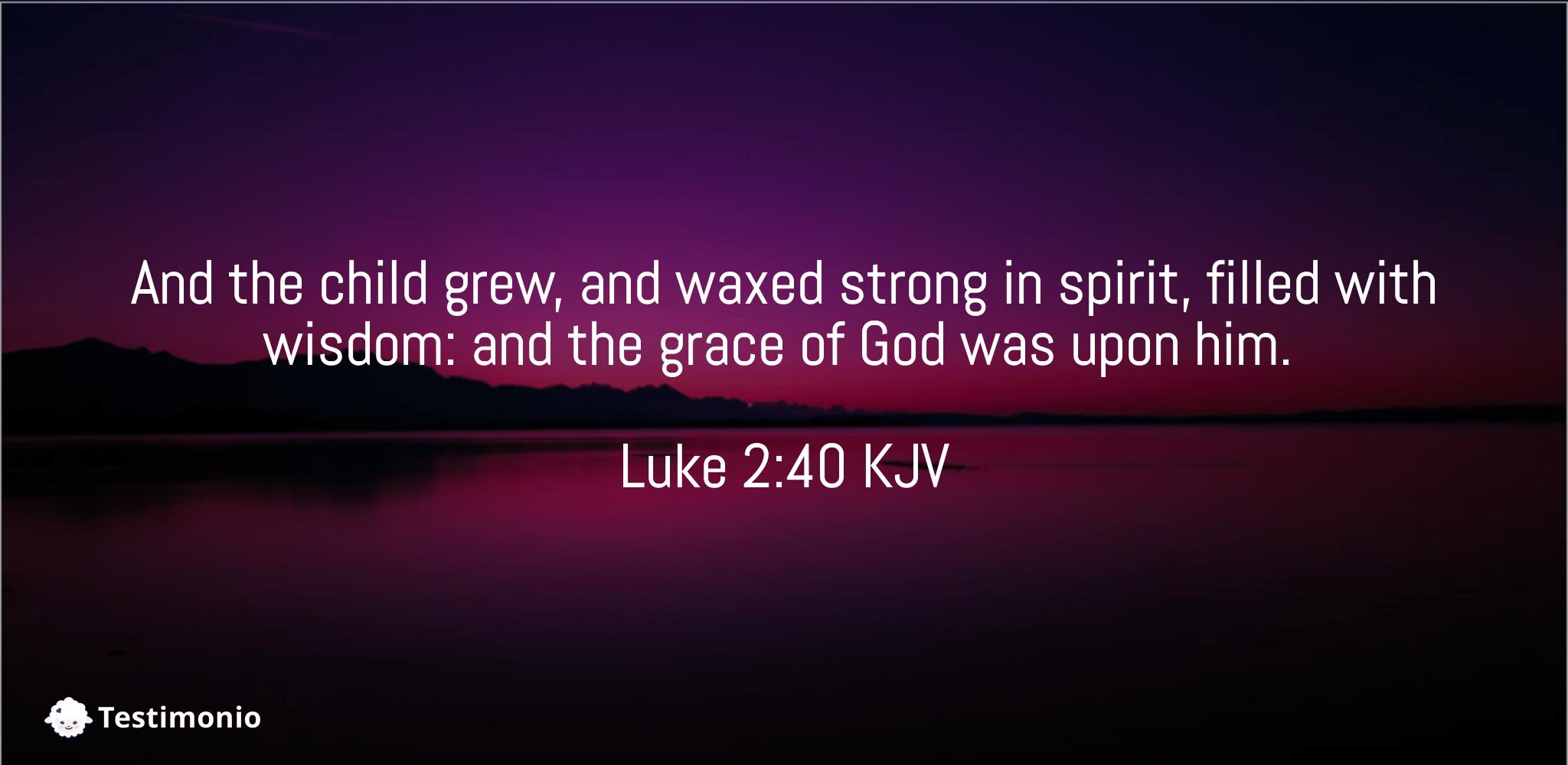 Luke 2:40