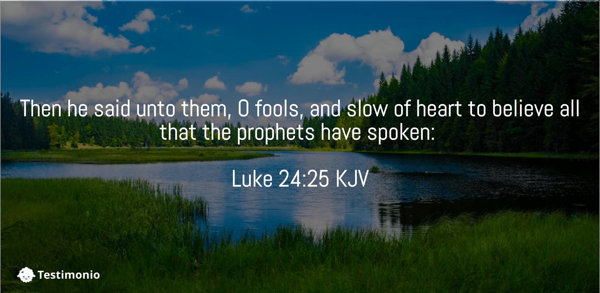 Luke 24:25
