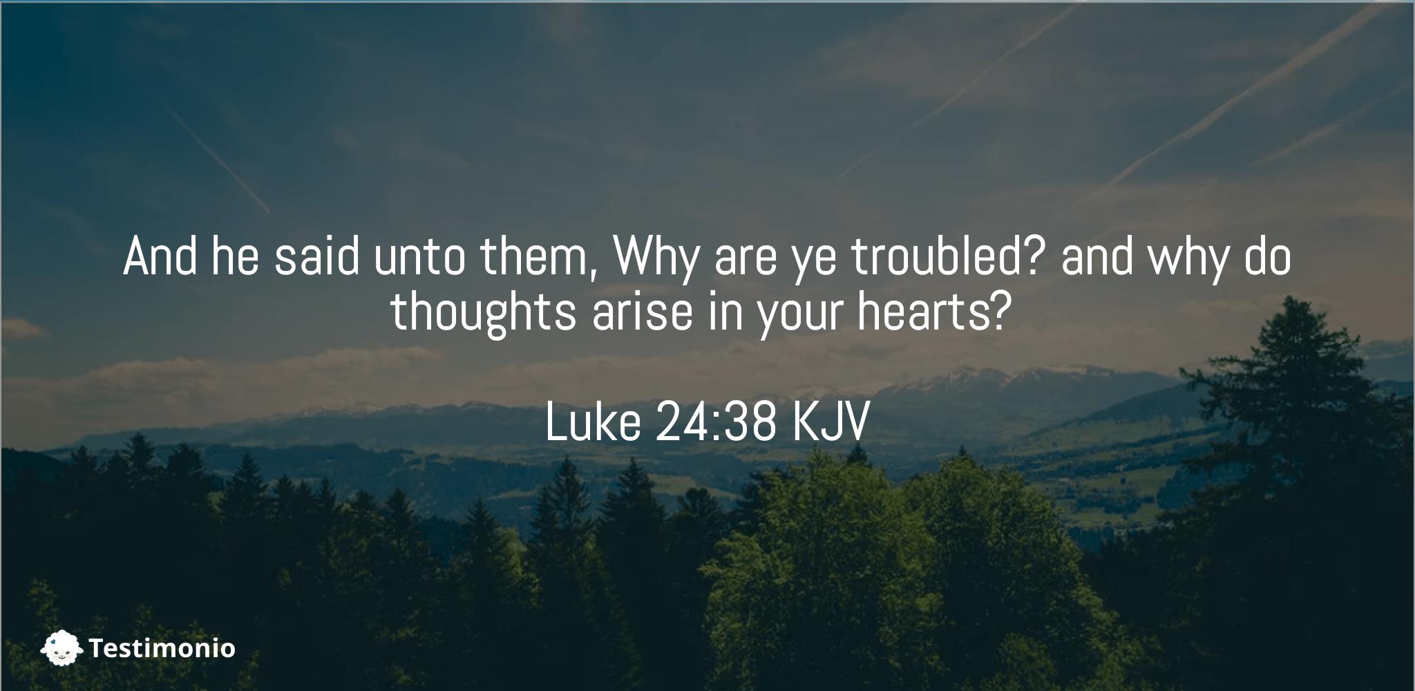 Luke 24:38