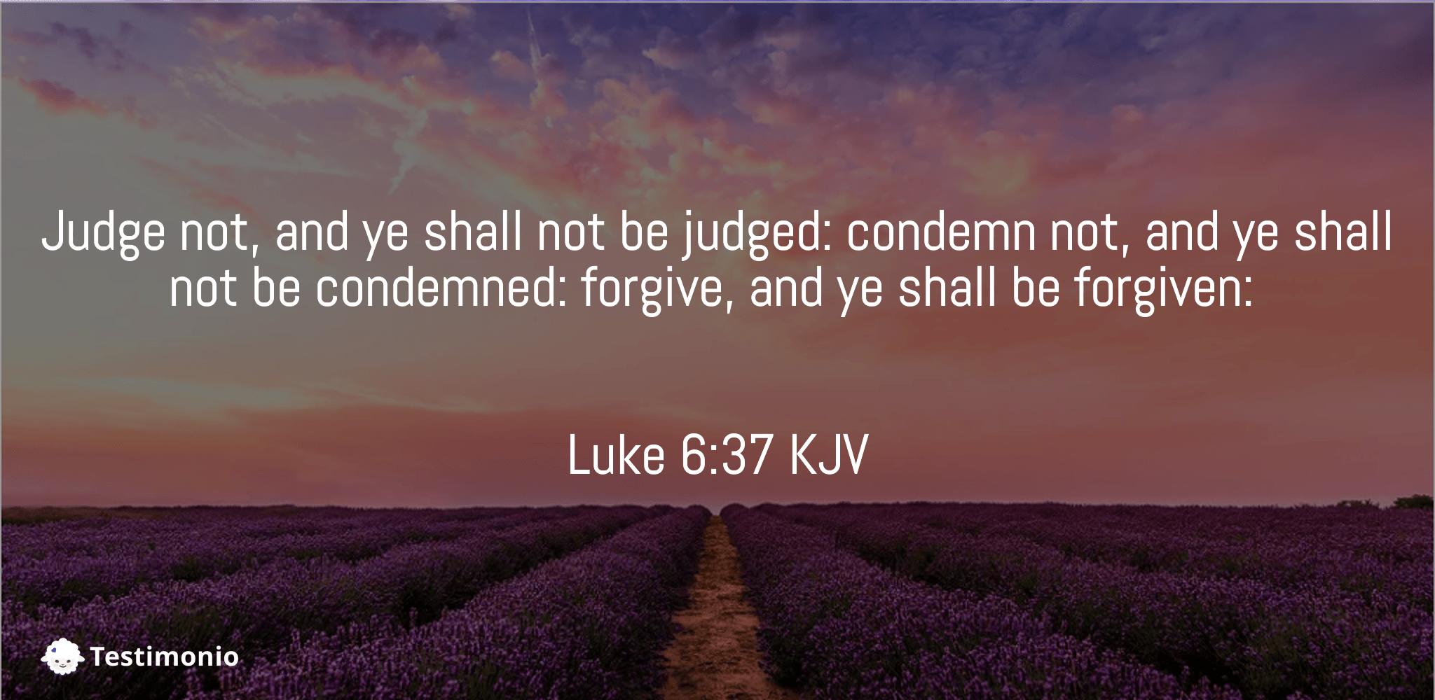 Luke 6:37