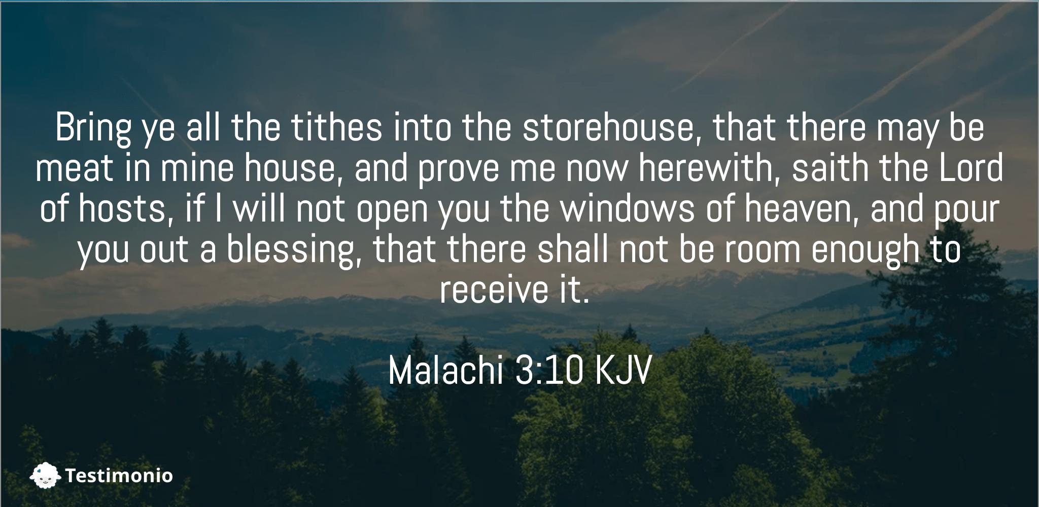 Malachi 3:10