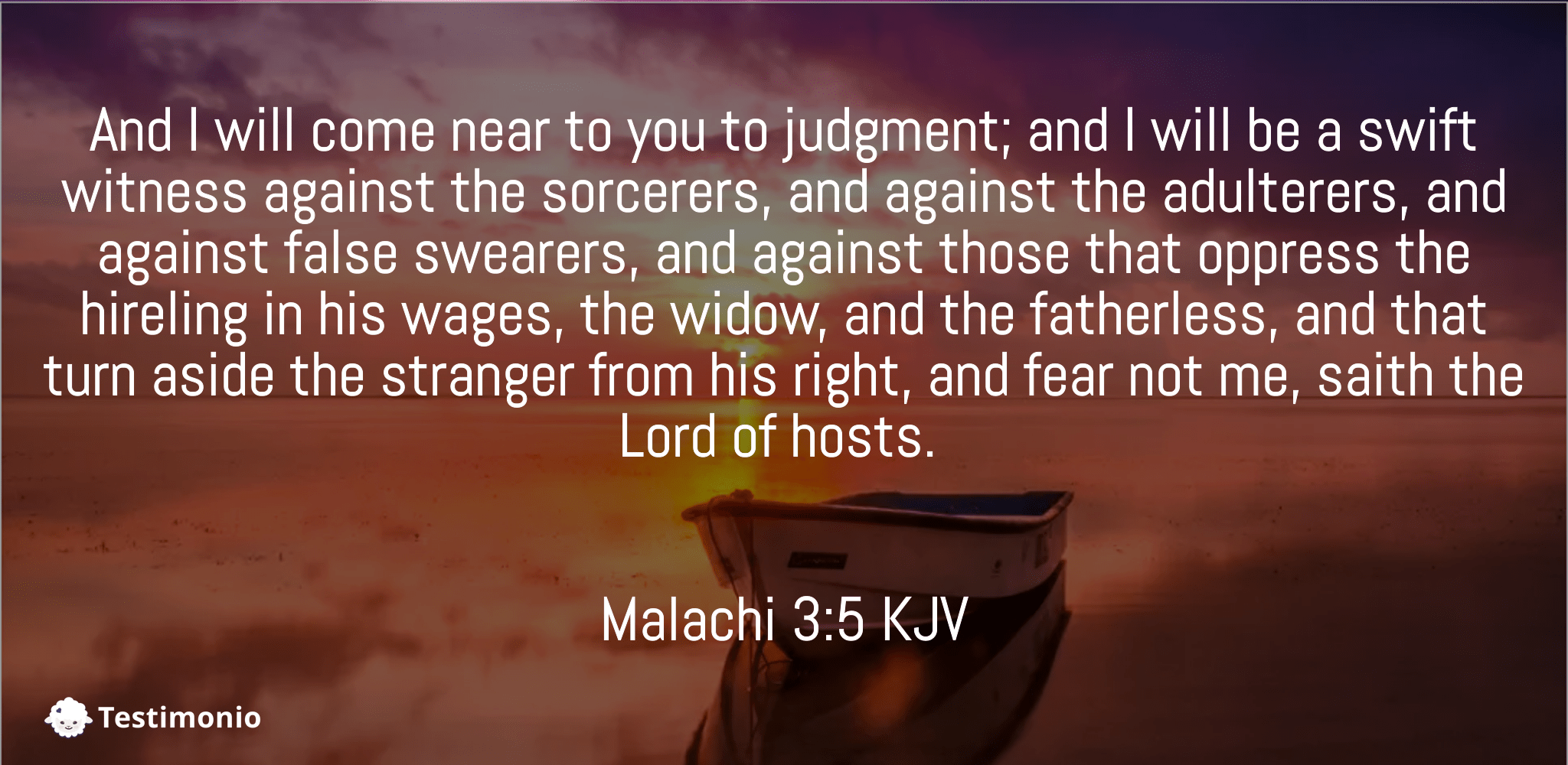 Malachi 3:5