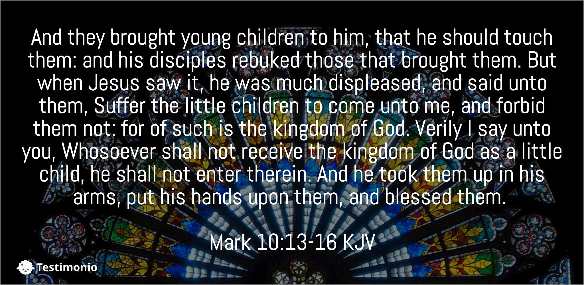 Mark 10:13-16