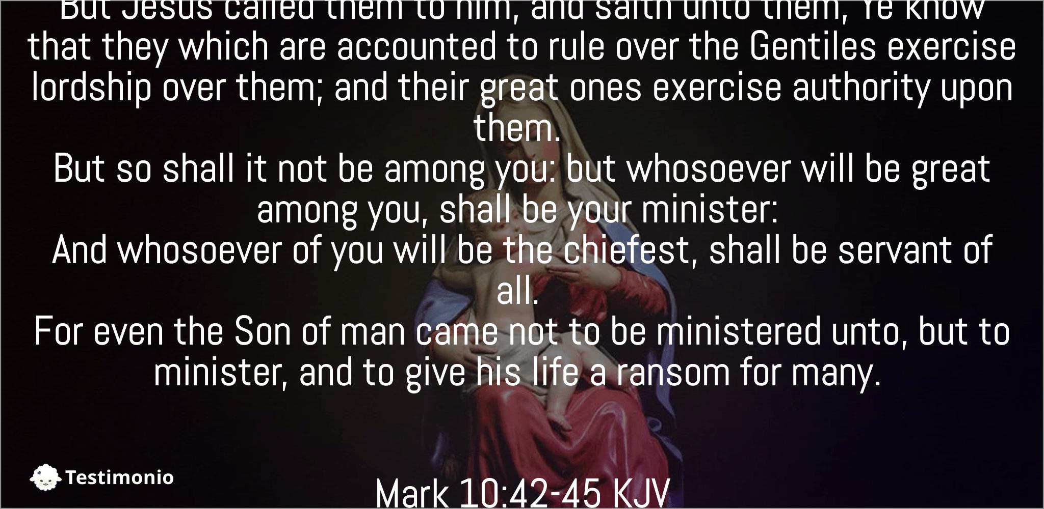 Mark 10:42-45