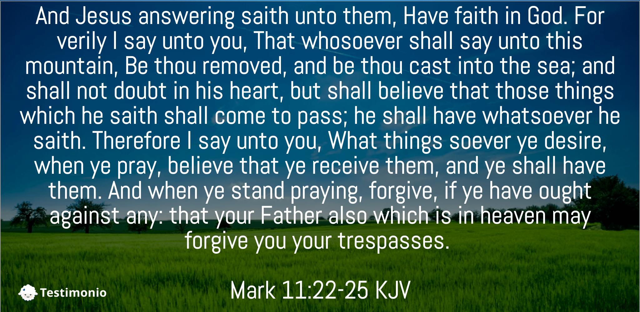 Mark 11:22-25