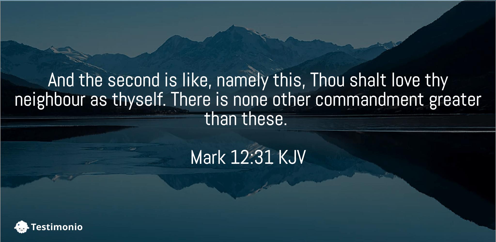 Mark 12:31