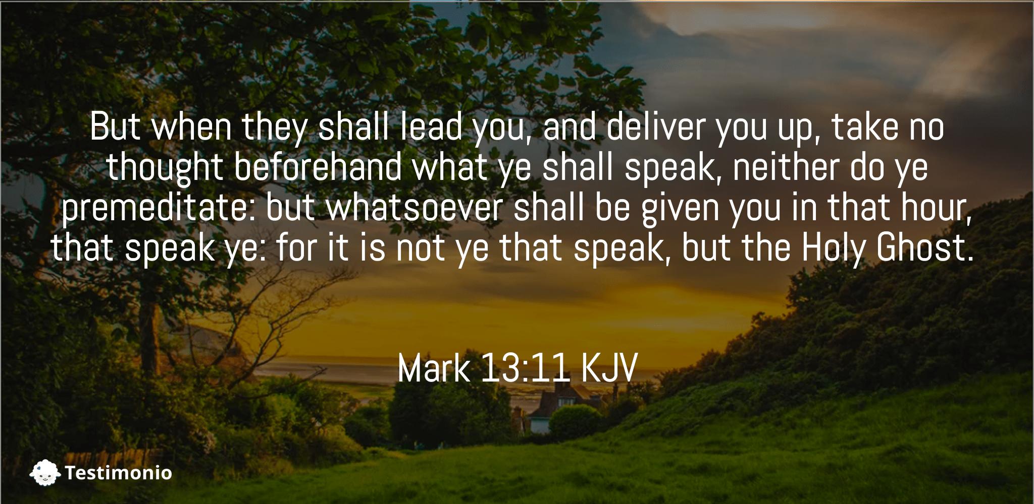 Mark 13:11