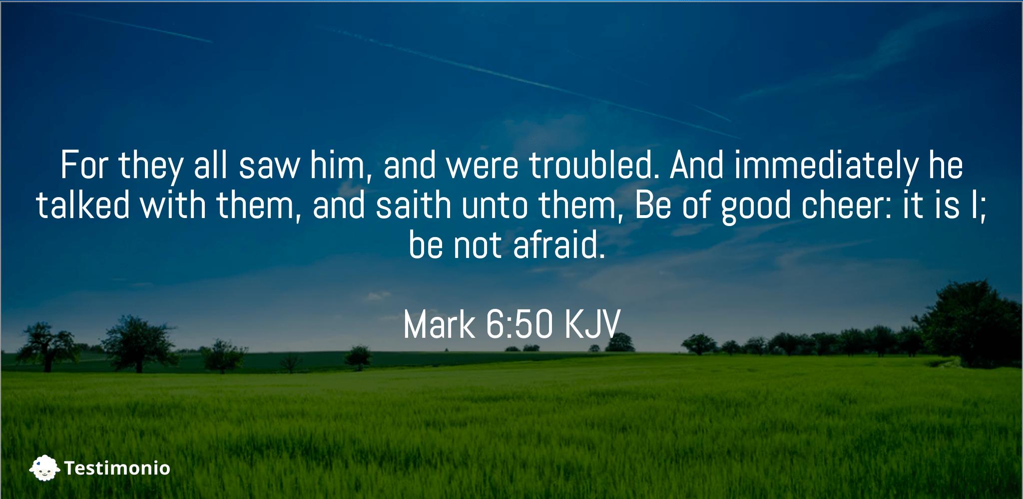 Mark 6:50
