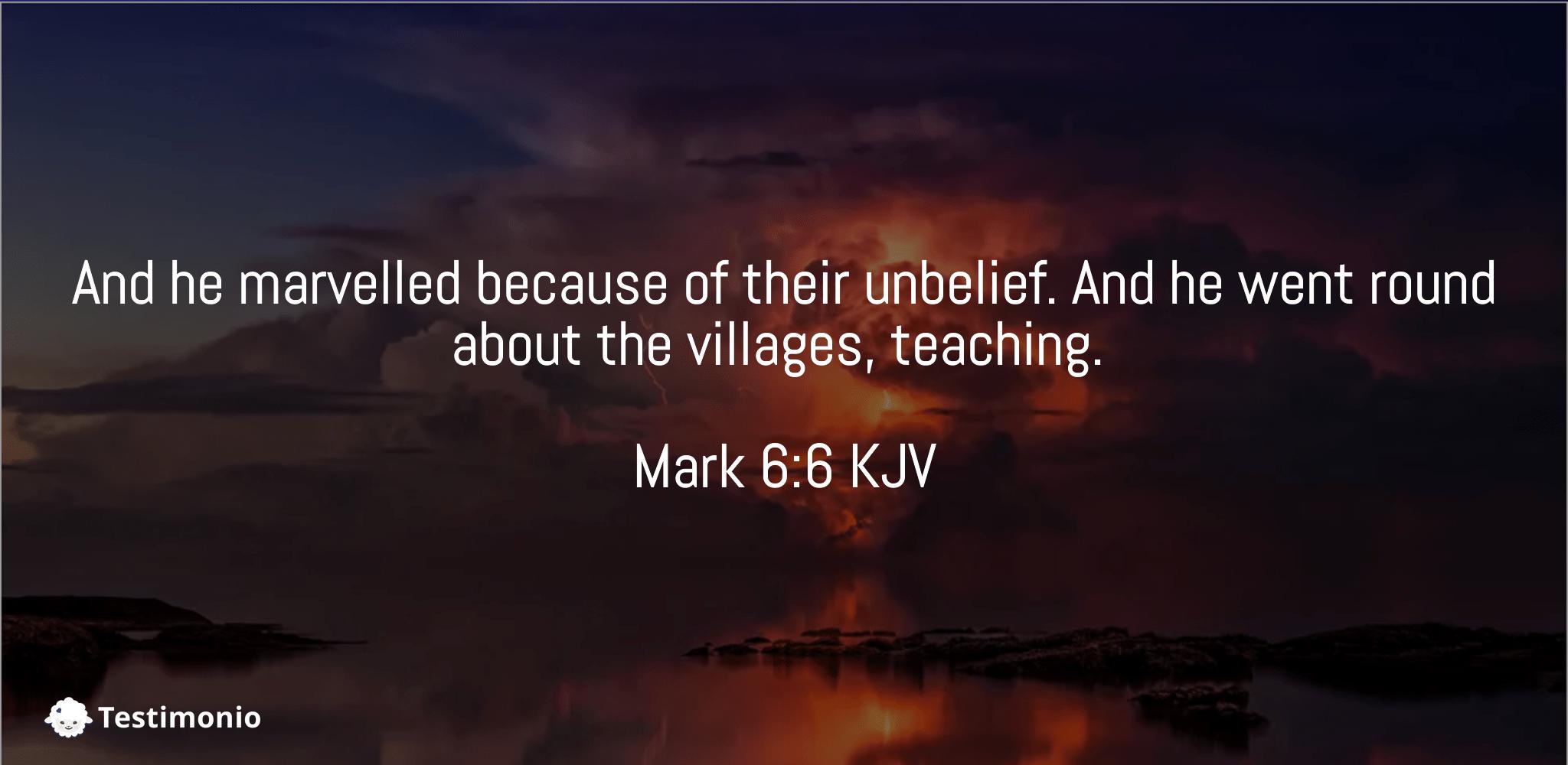 Mark 6:6