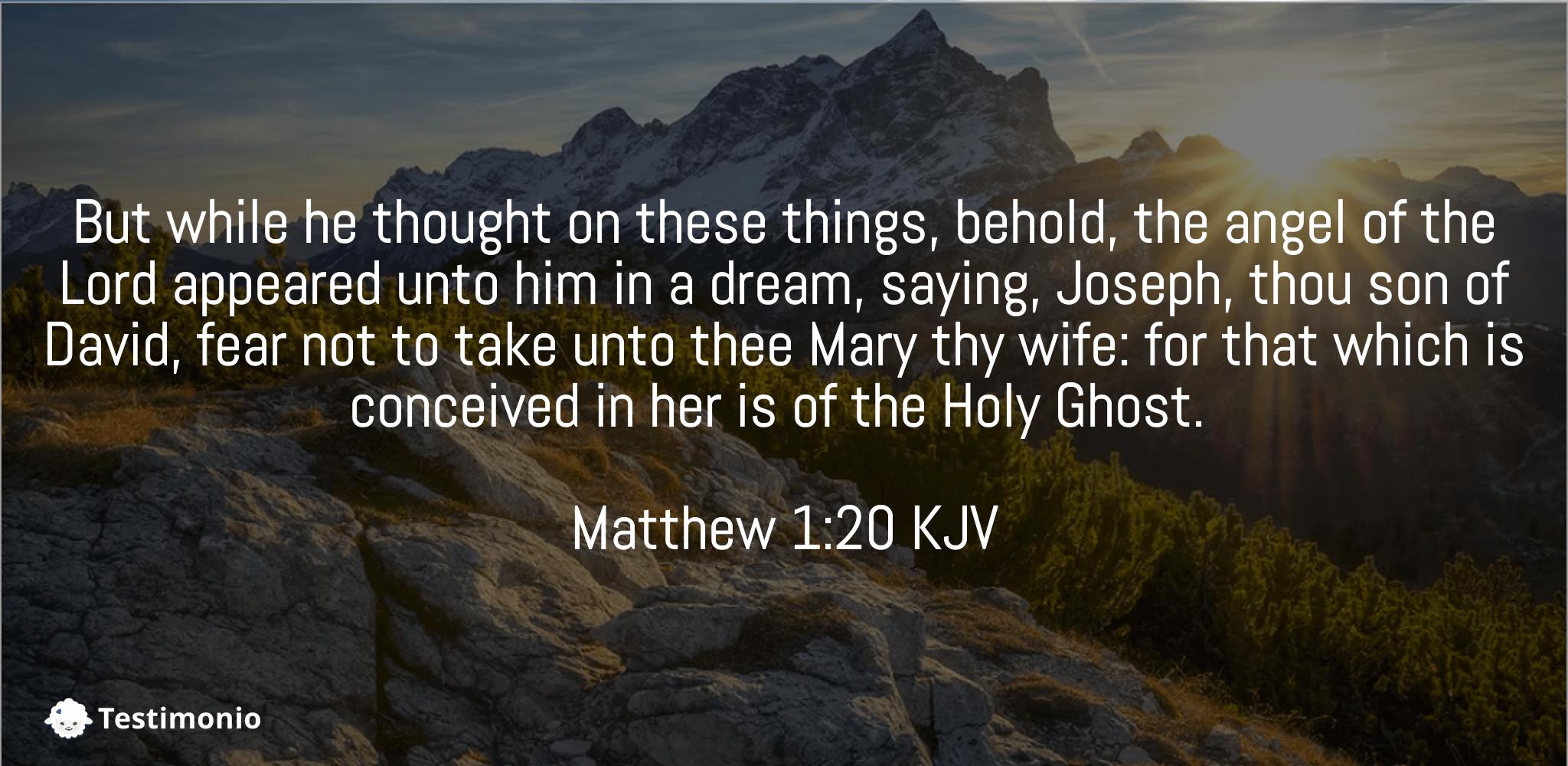 Matthew 1:20