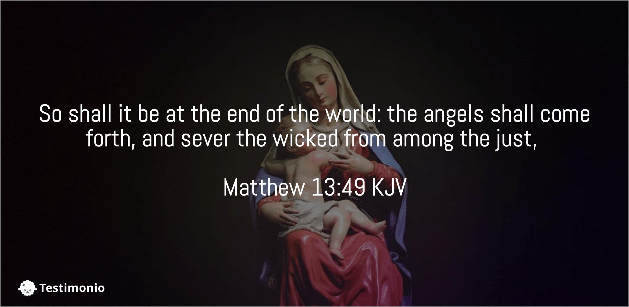 Matthew 13:49