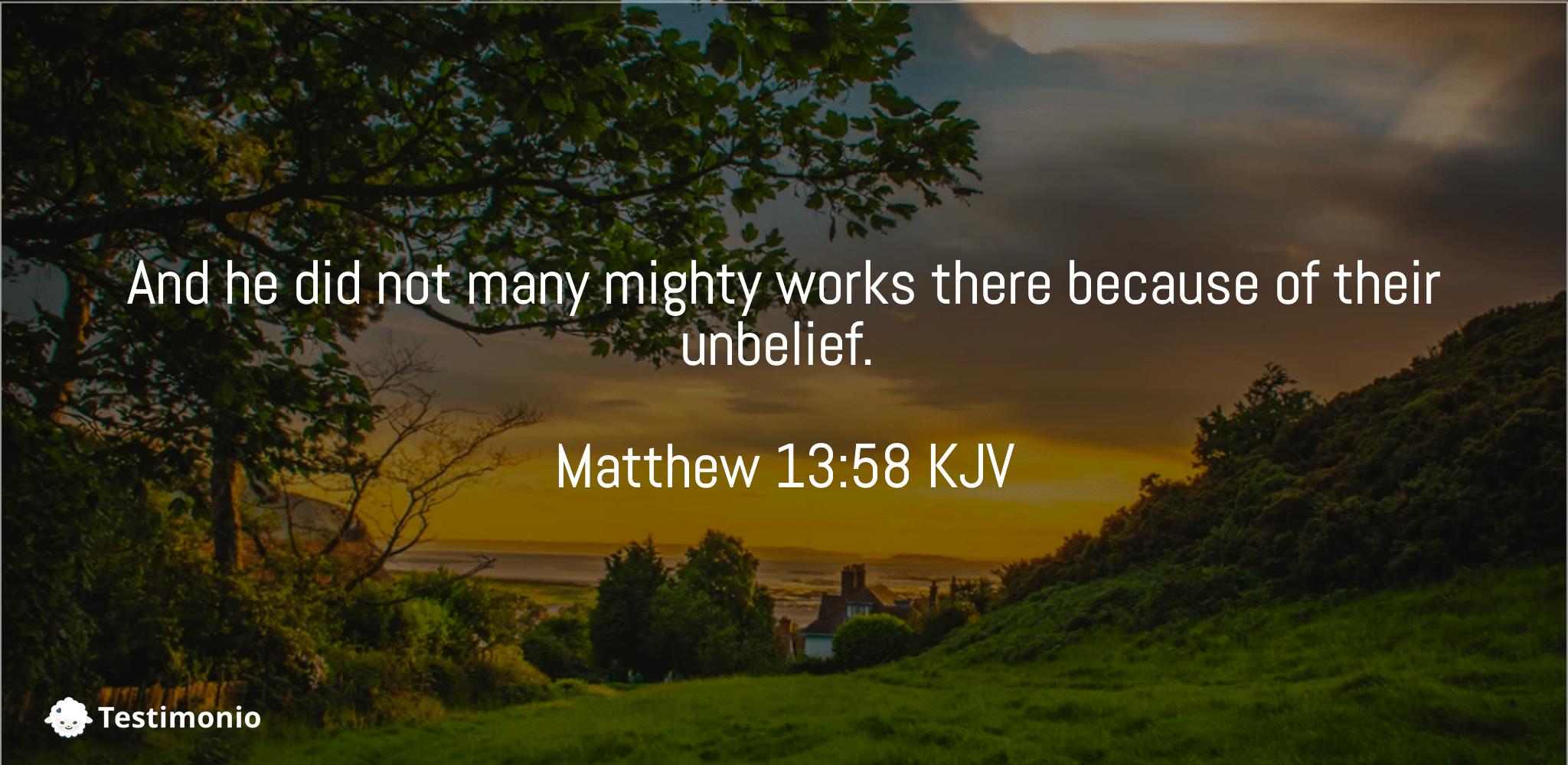 Matthew 13:58