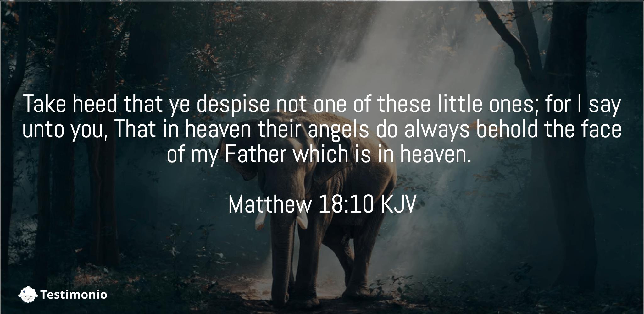 Matthew 18:10