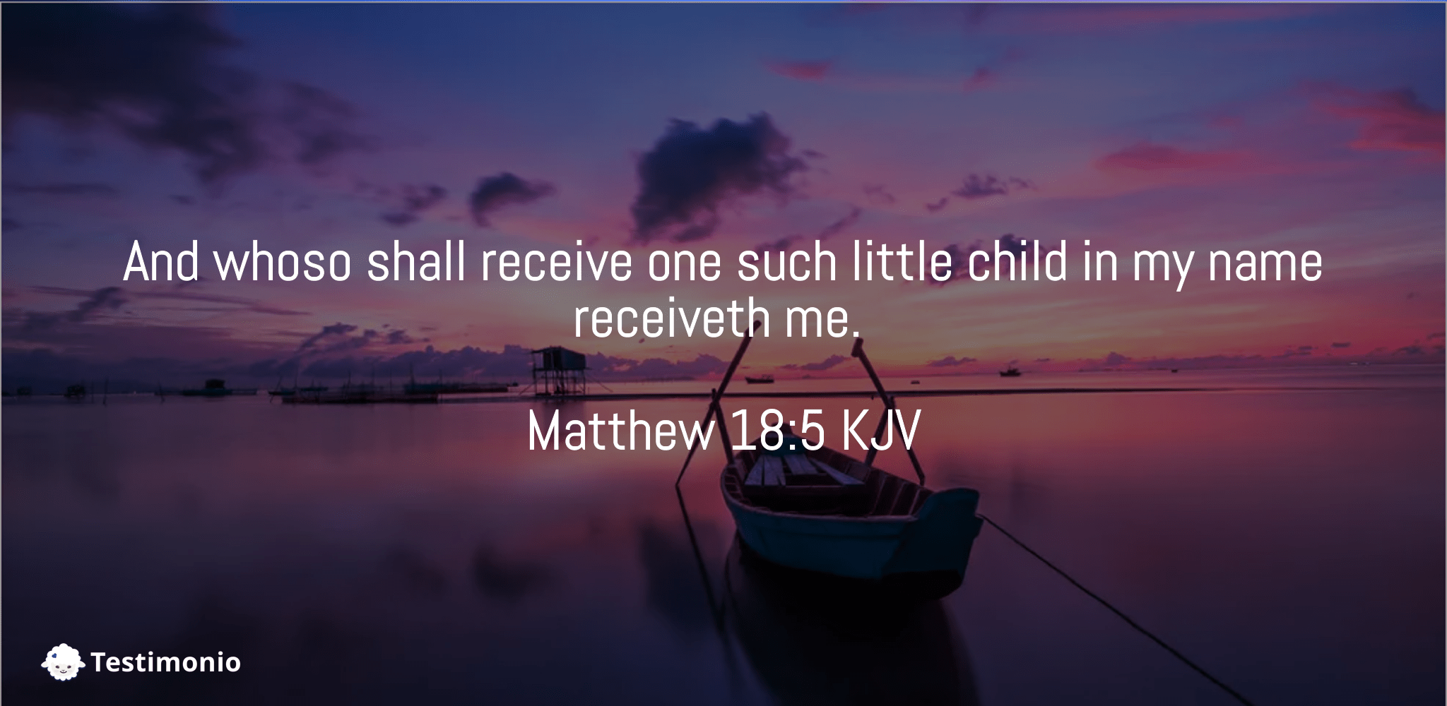 Matthew 18:5