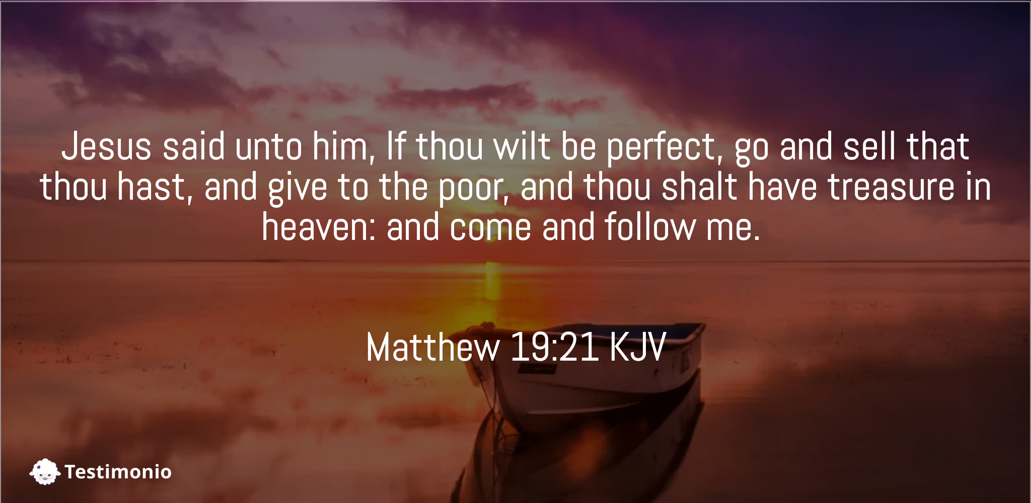 Matthew 19:21