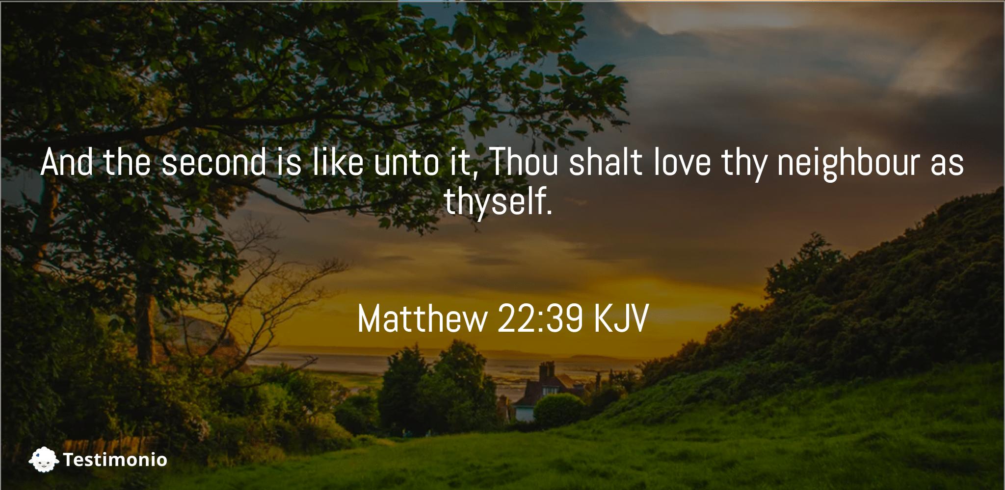 Matthew 22:39