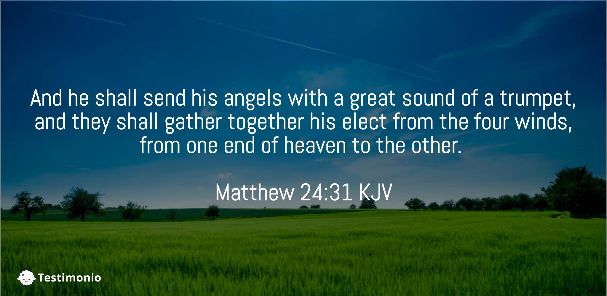 Matthew 24:31