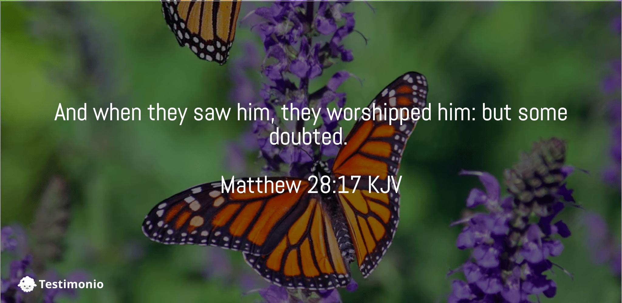 Matthew 28:17