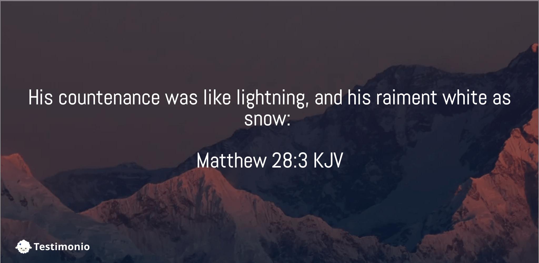Matthew 28:3