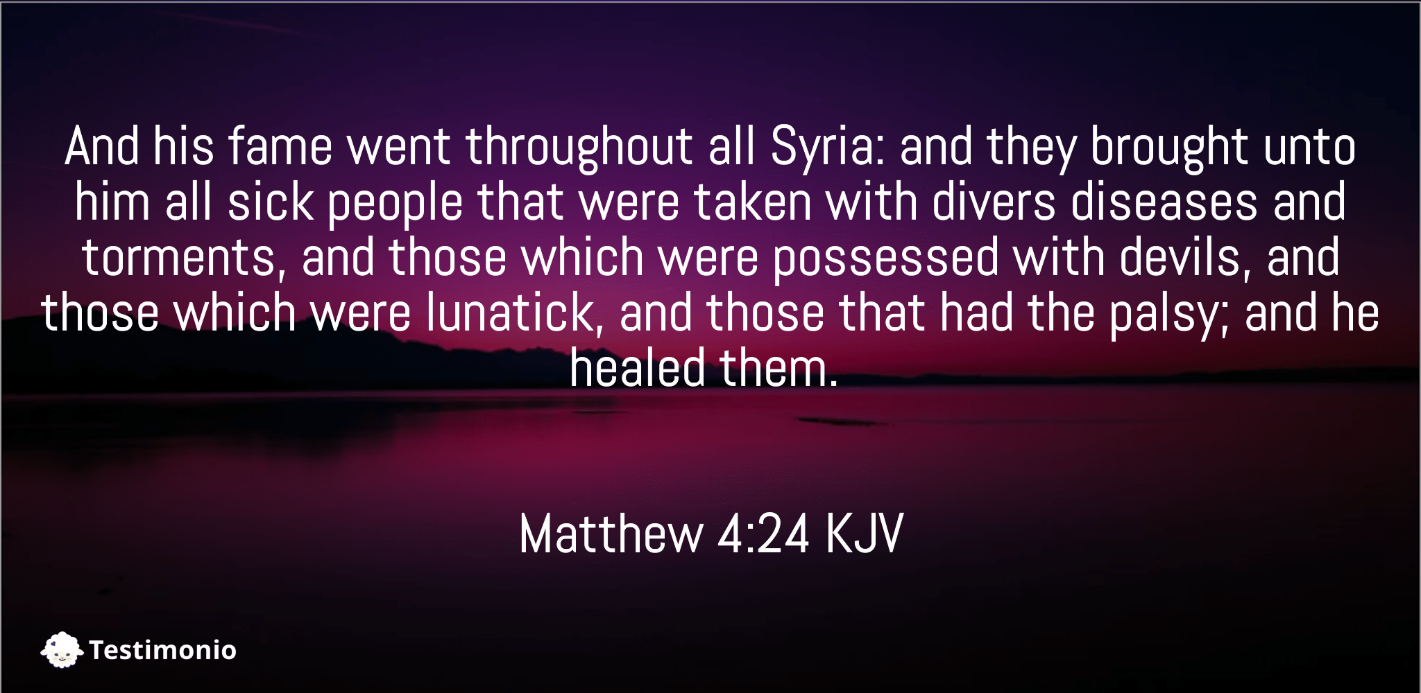 Matthew 4:24