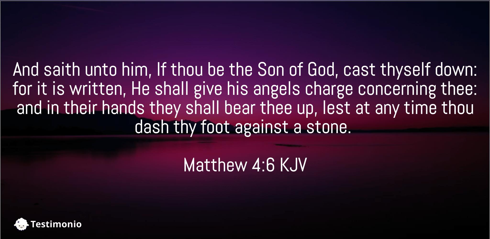 Matthew 4:6