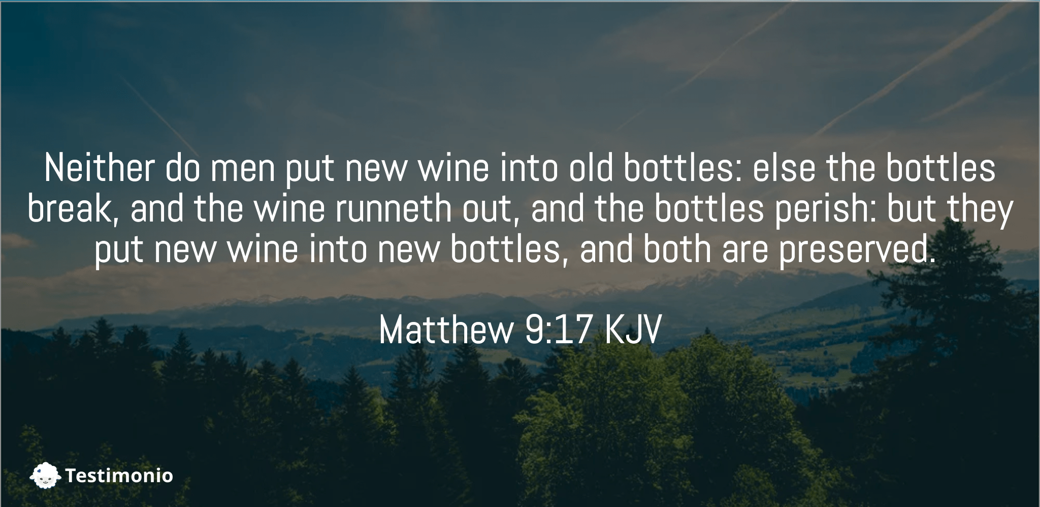 Matthew 9:17