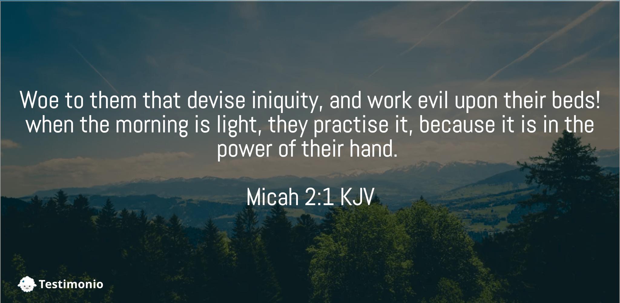 Micah 2:1