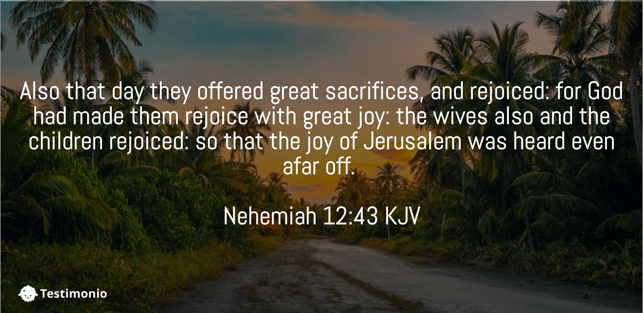 Nehemiah 12:43