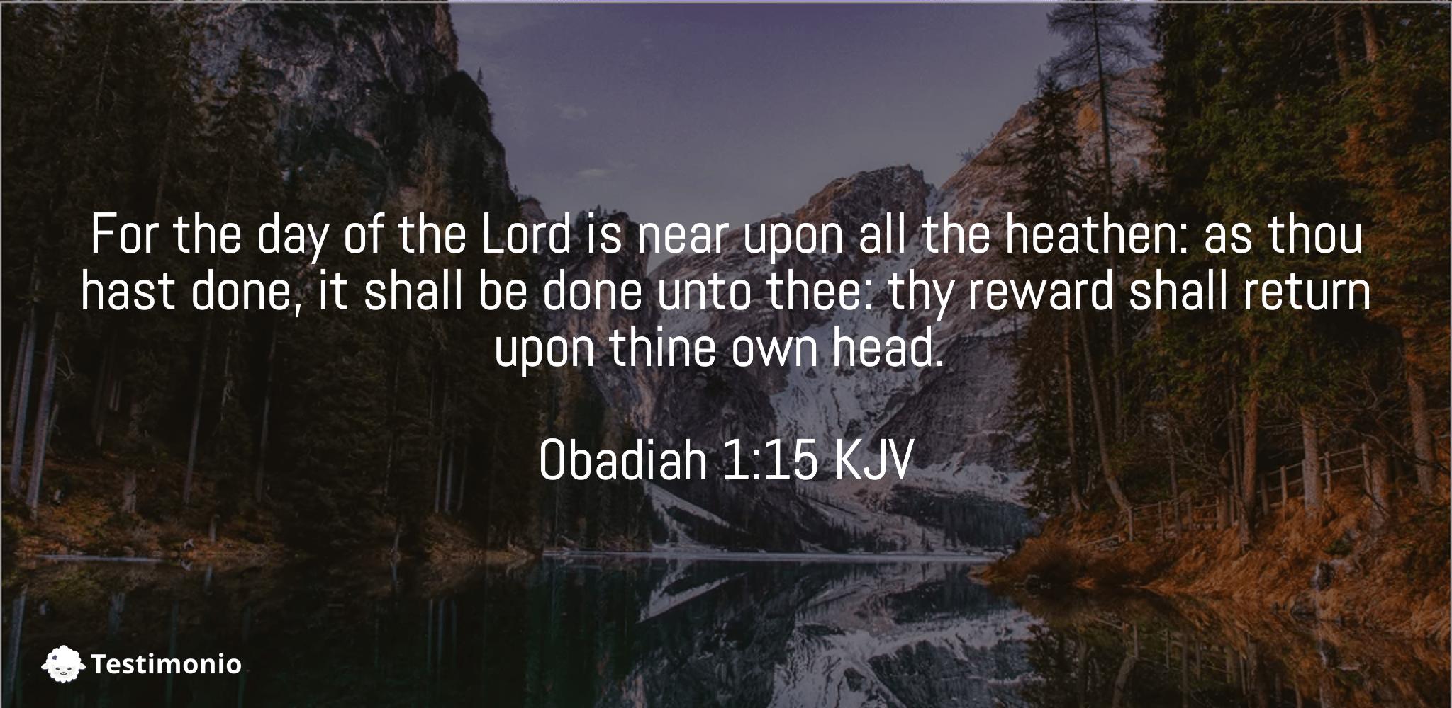 Obadiah 1:15
