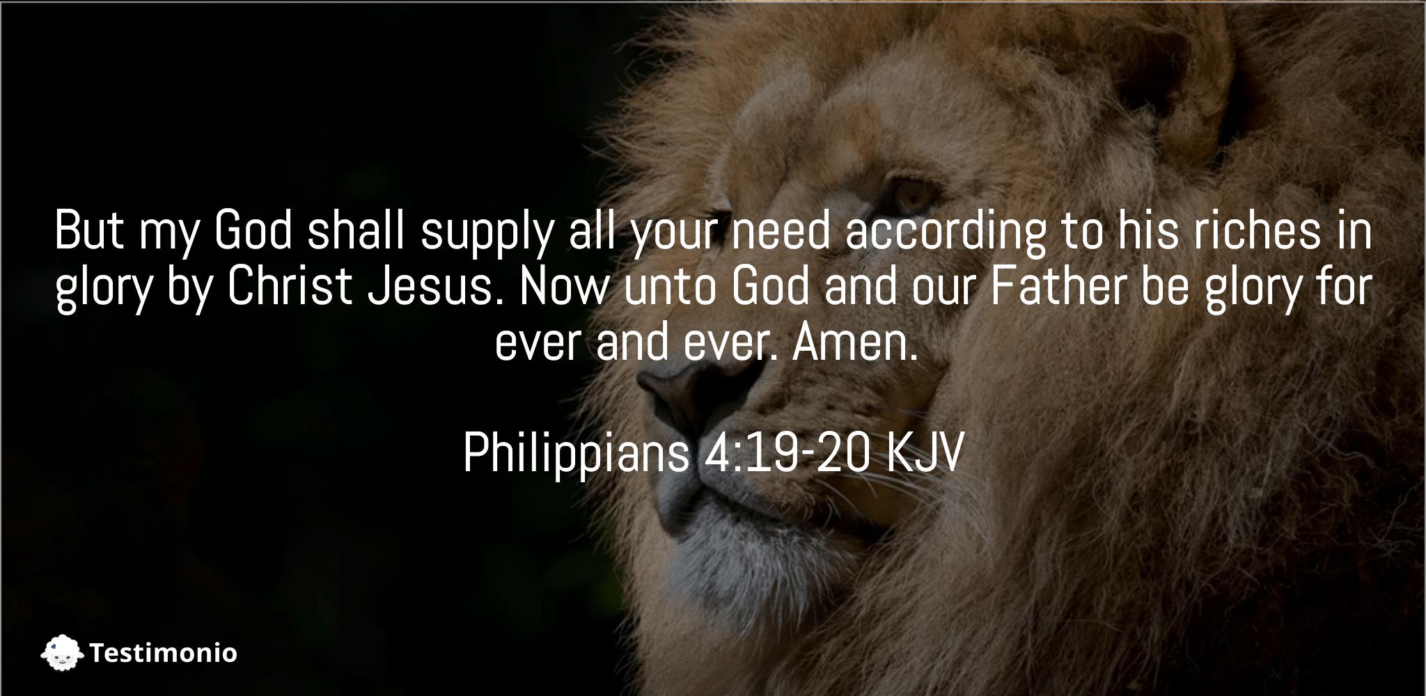 Philippians 4:19-20