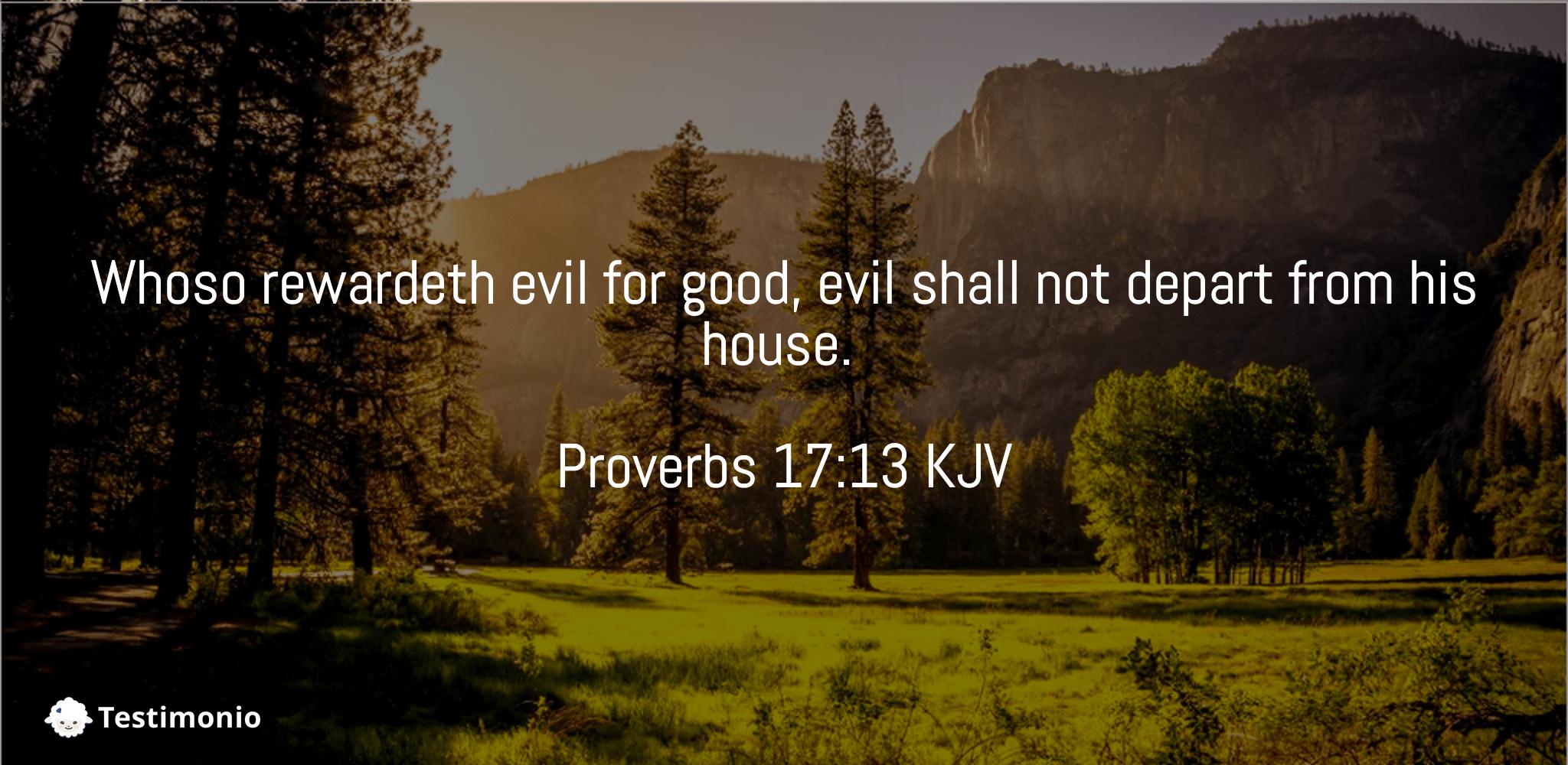 Proverbs 17:13