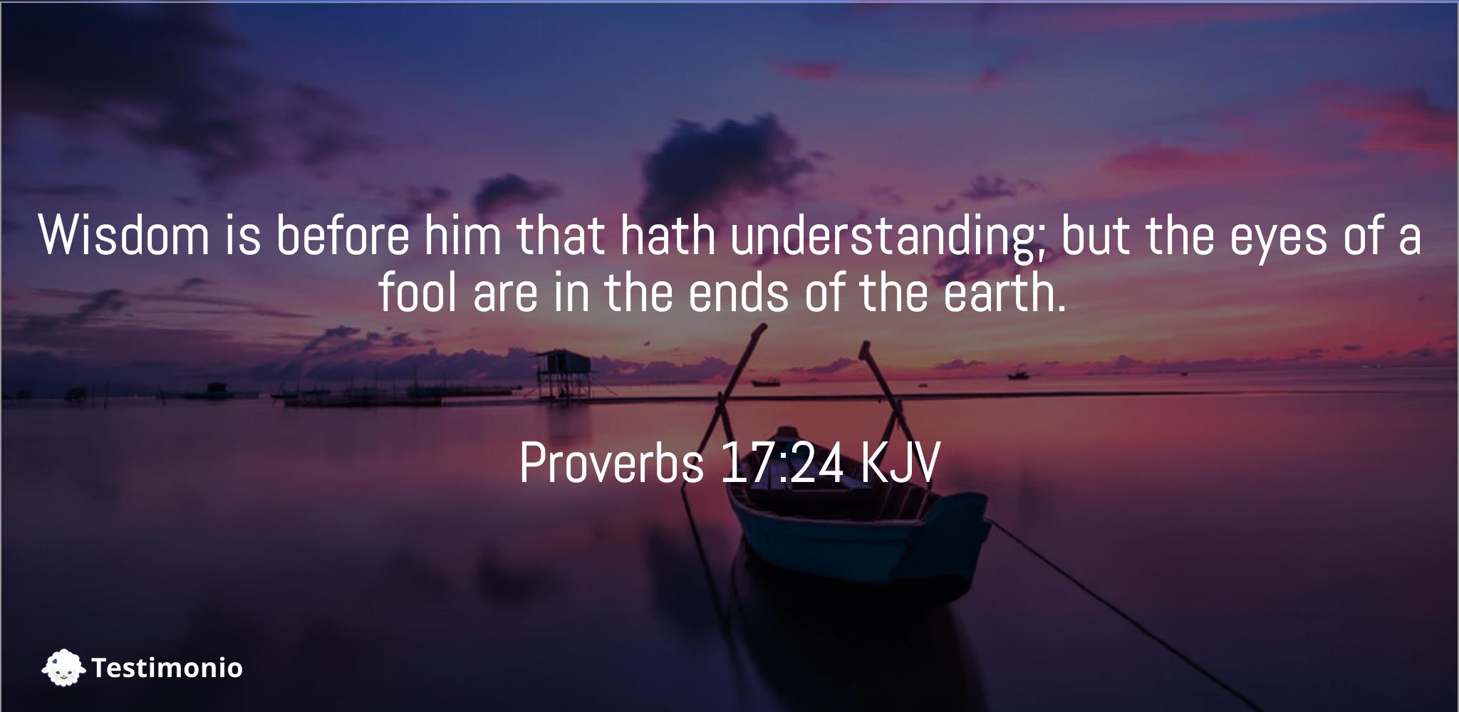 Proverbs 17:24