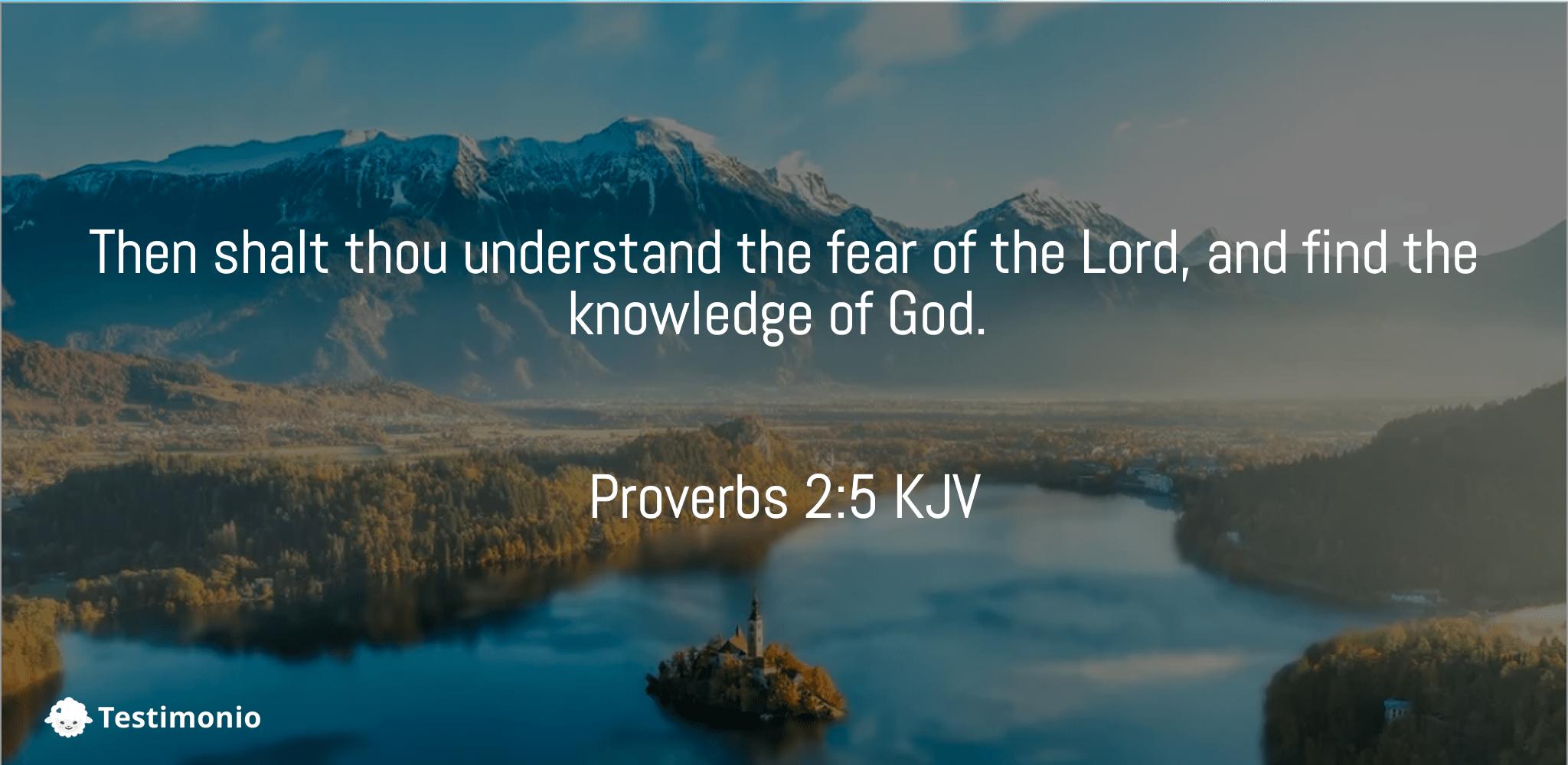 Proverbs 2:5