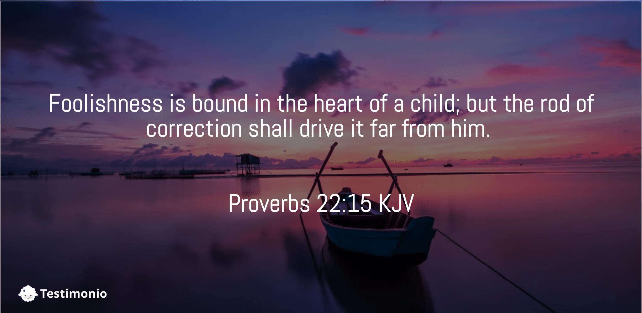 Proverbs 22:15