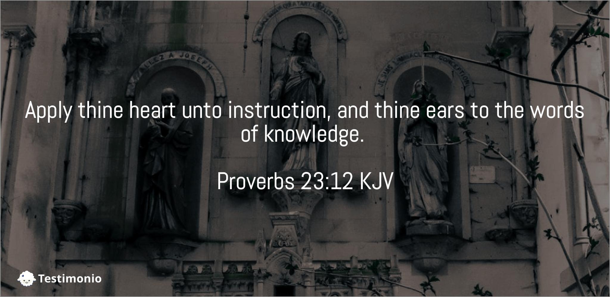 Proverbs 23:12