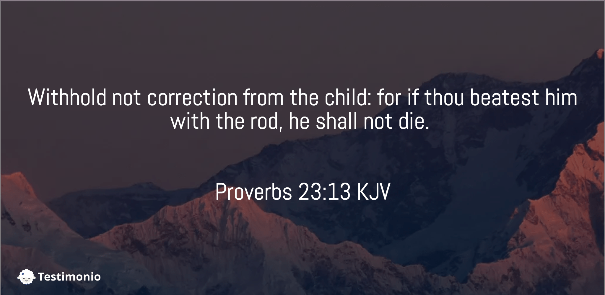 Proverbs 23:13