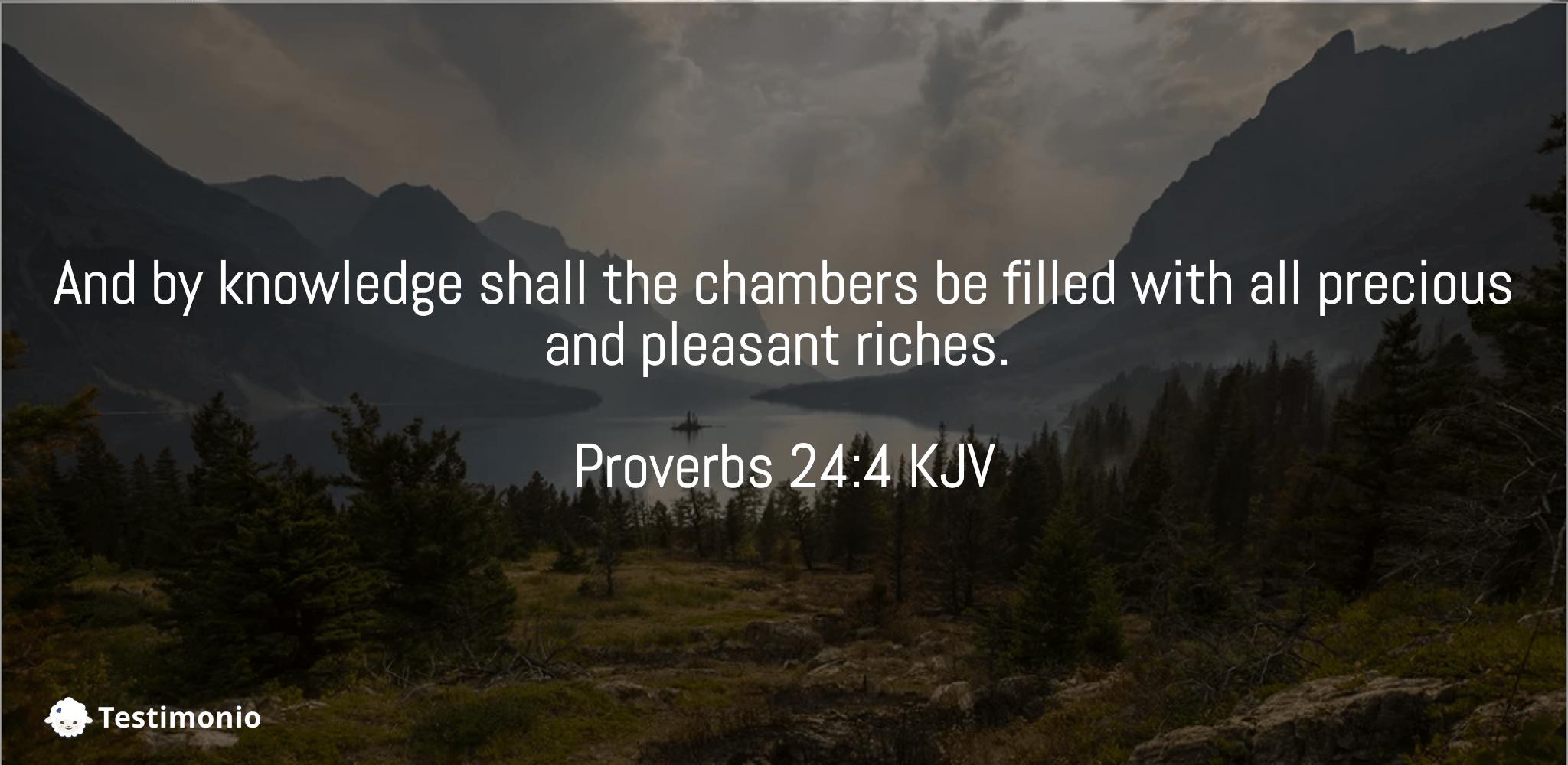 Proverbs 24:4